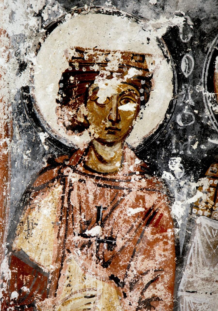 Святой Пророк Царь Соломон. Фреска церкви Святой Варвары в Соганлы, Каппадокия. 1021 год.