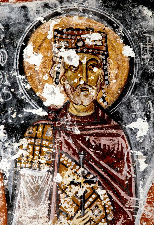 Святой Пророк Царь Давид. Фреска церкви Святой Варвары в Соганлы, Каппадокия. 1021 год.