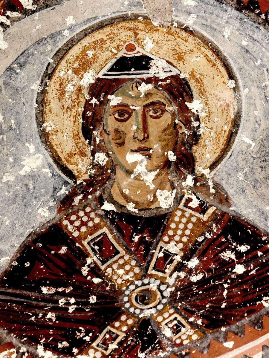 Святой Праотец (?). Византийская фреска в церкви Святого Феодора, Тагар, Каппадокия.