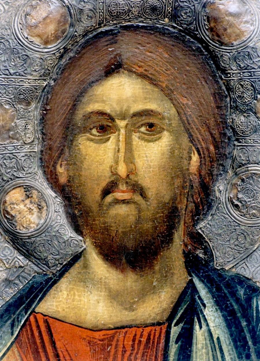 Христос Душеспаситель. Икона. Византия, Константинополь, около 1312 - 1325 годов. Галерея икон в Охриде, Македония. Лик.