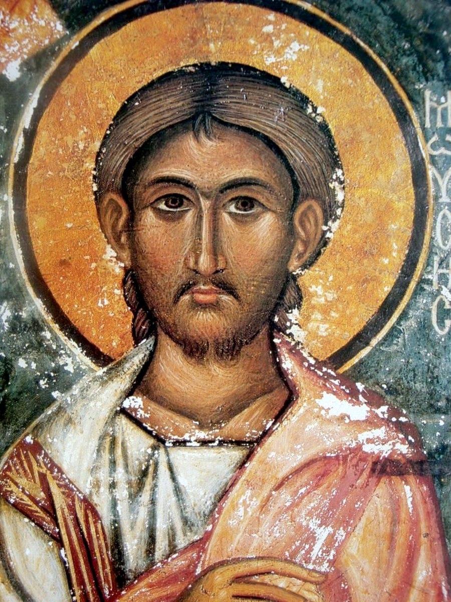 Святой Пророк Моисей Боговидец. Фреска монастыря Святой Екатерины на Синае. XV век.