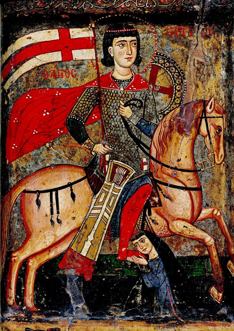 Святой Мученик Сергий Римлянин. Икона XIII века. Монастырь Святой Екатерины на Синае.