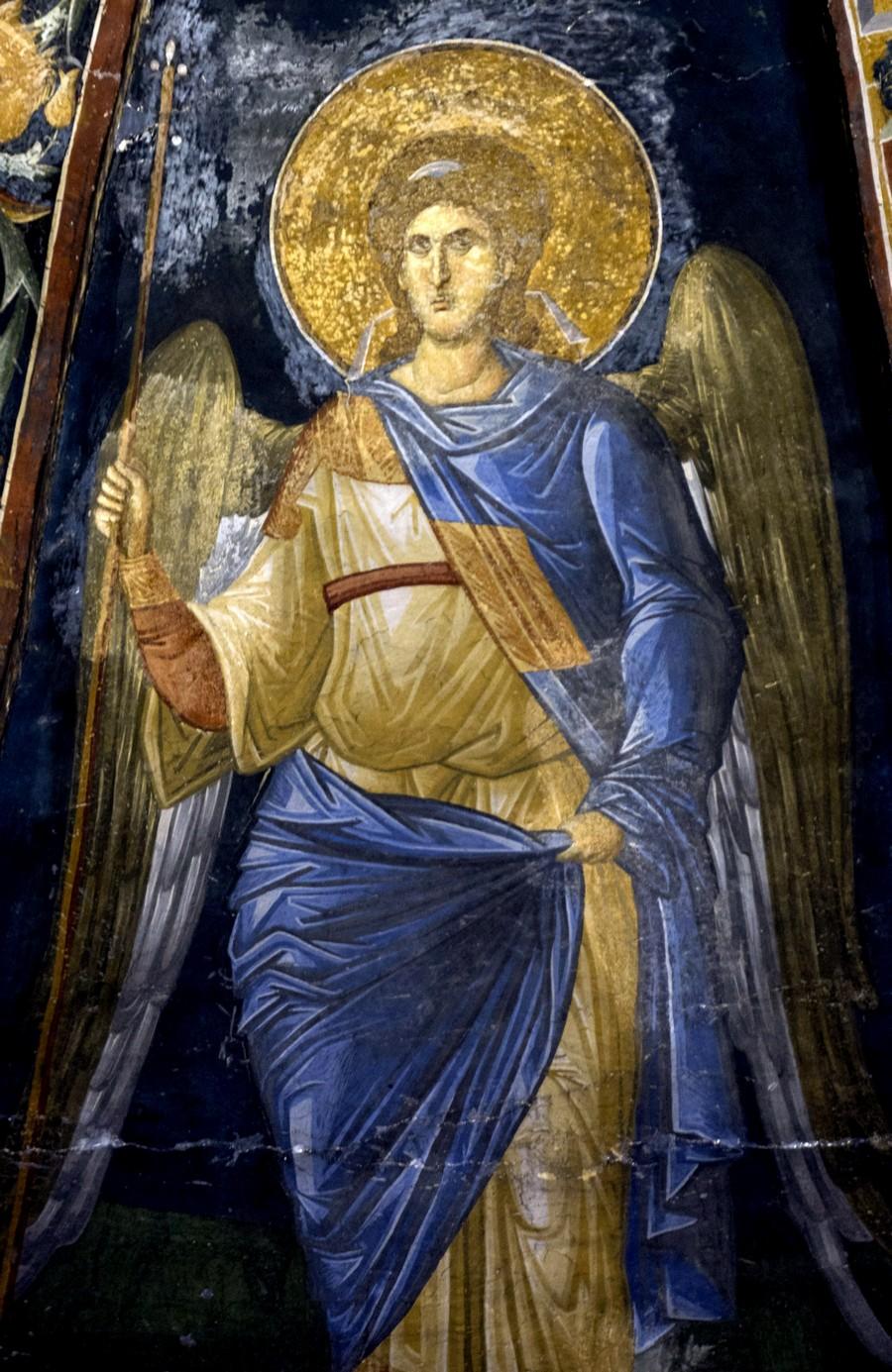 Ангел Господень. Фреска монастыря Хора в Константинополе. 1316 - 1321 годы.