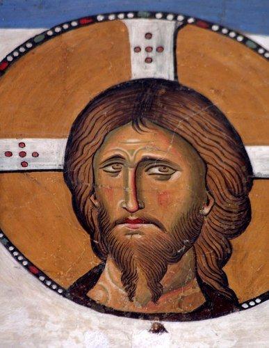 Спас Нерукотворный. Фреска церкви Панагии Аракиотиссы в деревне Лагудера, Кипр. 1192 год.