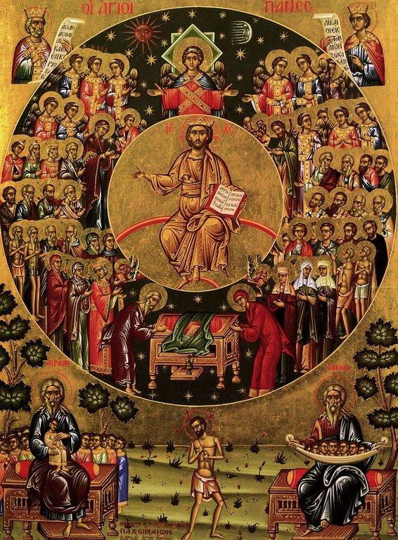 Собор Всех Святых. Икона написана на Святой Горе Афон.