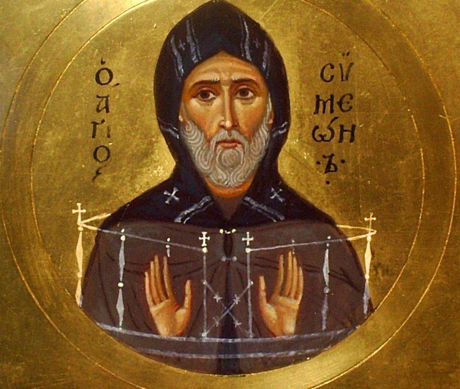 Святой Преподобный Симеон Столпник. Иконописец Самсон Марзоев.