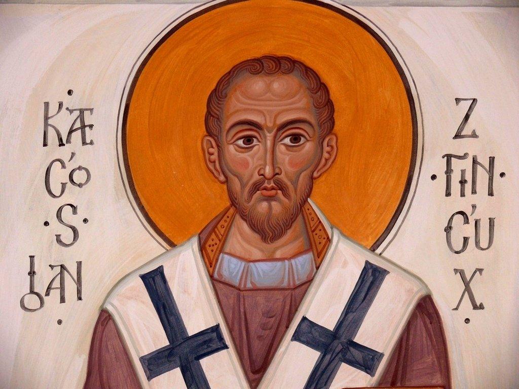 Святитель Иоанн Златоуст, Архиепископ Константинопольский. Иконописец Самсон Марзоев.