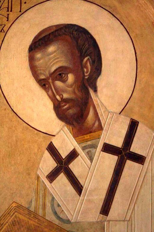 Святитель Иоанн Златоуст, Архиепископ Константинопольский. Иконописец Ирина Зарон.