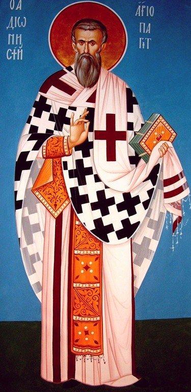 Священномученик Дионисий Ареопагит, Епископ Афинский. Иконописец Александр Рудой.