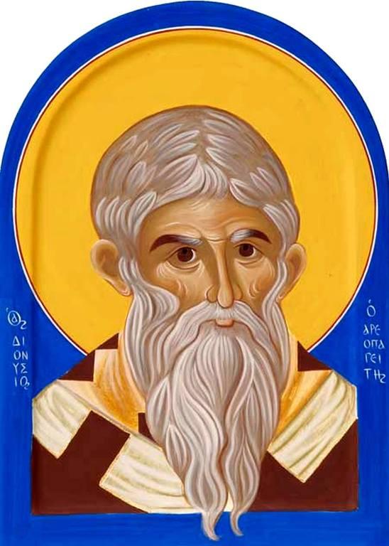 Священномученик Дионисий Ареопагит, Епископ Афинский. Современная сербская икона.