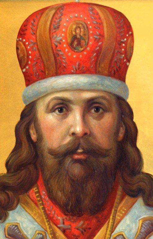 Священномученик Серафим, Архиепископ Смоленский. Иконописец Наталия Пискунова. Фрагмент иконы.