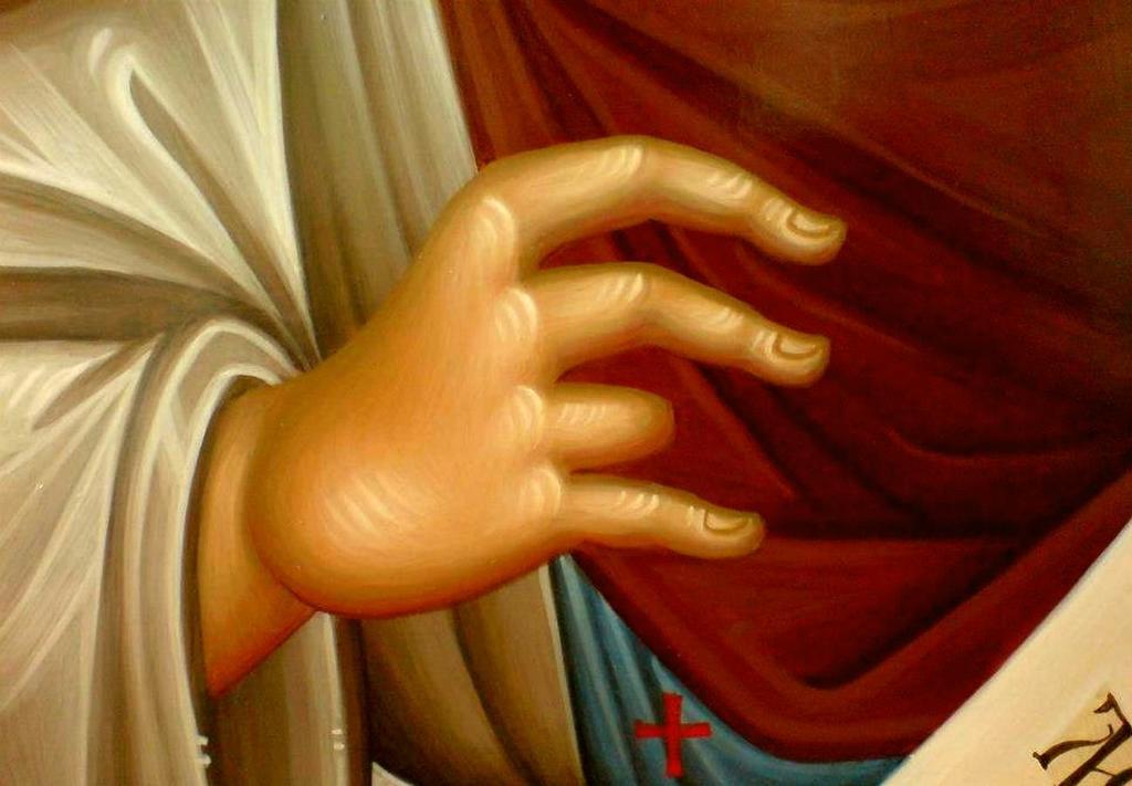 Святой Преподобный Антоний Сийский. Фрагмент иконы.