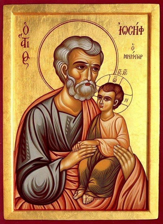 Святой Праведный Иосиф Обручник. Современная икона.