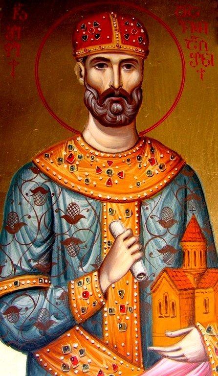 Святой Благоверный Давид Возобновитель, Царь Иверии и Абхазии. Иконописец Зураб Модебадзе.