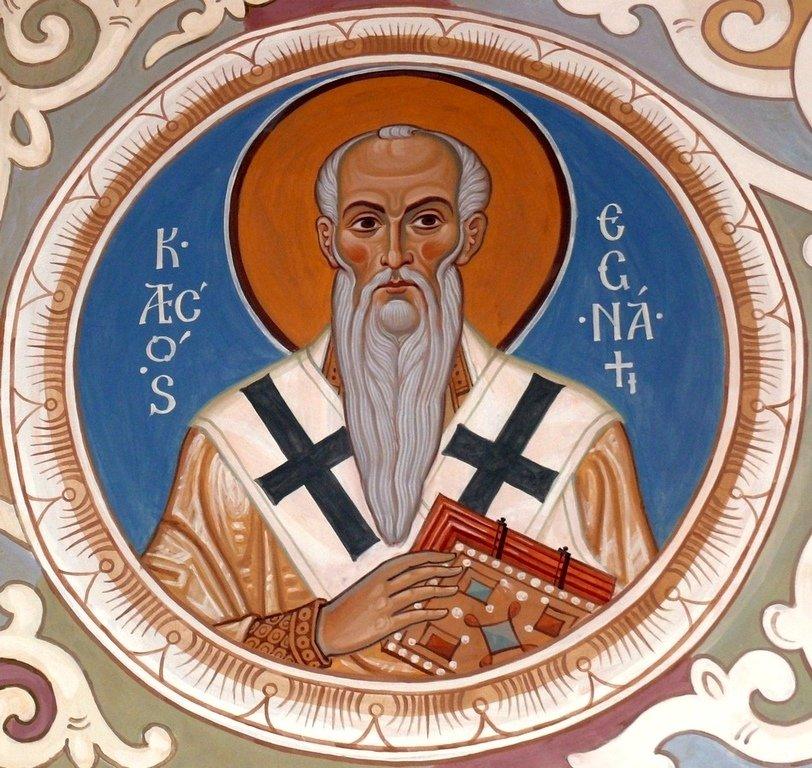 Священномученик Игнатий Богоносец, Епископ Антиохийский. Современная церковная роспись. Иконописец Самсон Марзоев.