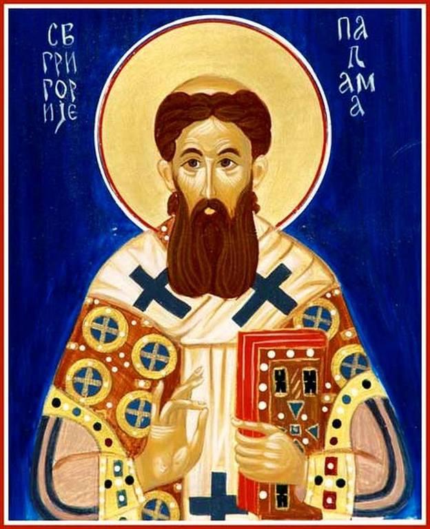 Святитель Григорий Палама, Архиепископ Фессалонитский. Современная сербская икона.
