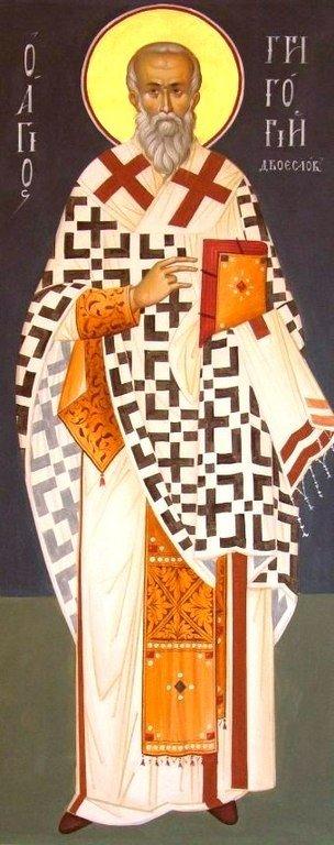 Святитель Григорий Двоеслов, Папа Римский. Современная церковная роспись.