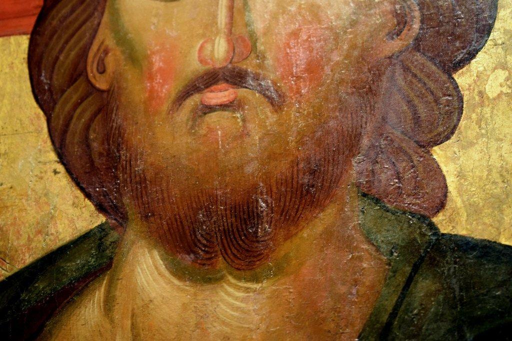 Христос Пантократор. Болгарская икона XIV века. Фрагмент.