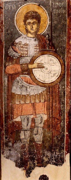 Святой Великомученик Прокопий. Фреска Белой церкви в селе Каран, Сербия.1340–1342 годы.
