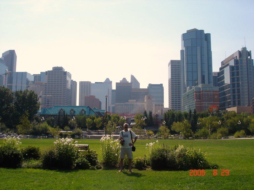 Калгари. Центр города и уютный парк рядом.