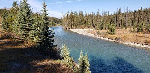 Река Боу в Скалистых горах Канады