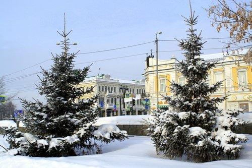 Омская зима.