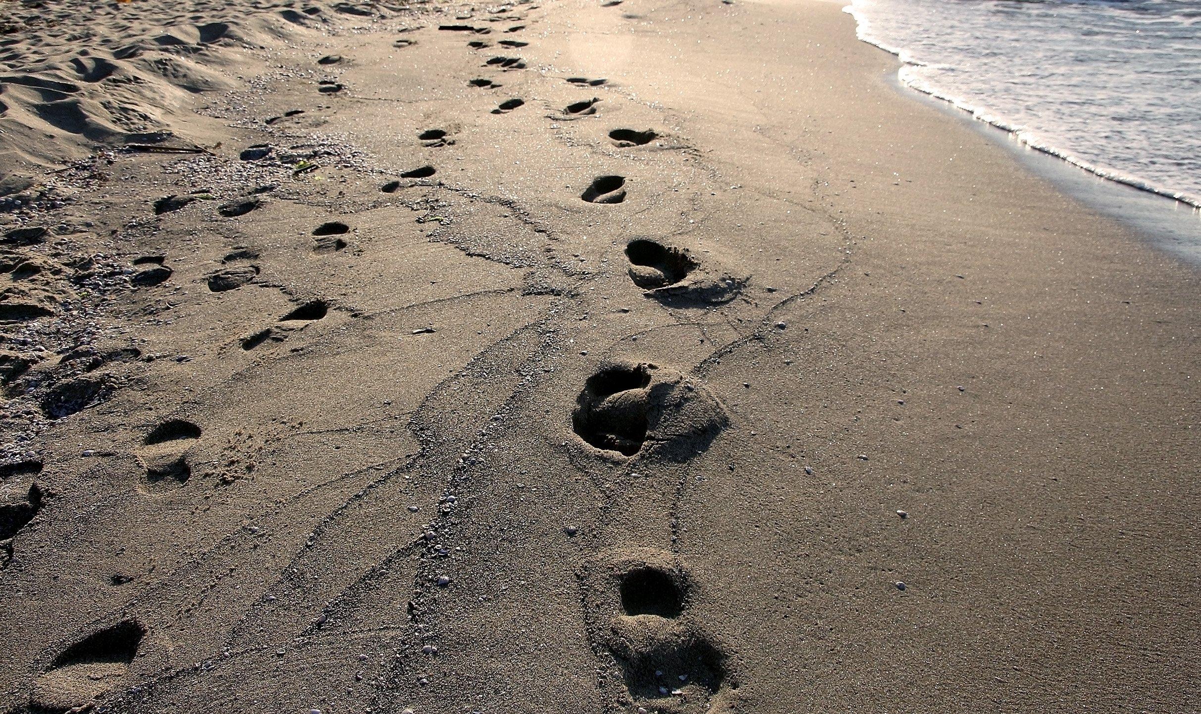конечно след на песке фото сложность трудно сконцентрироваться