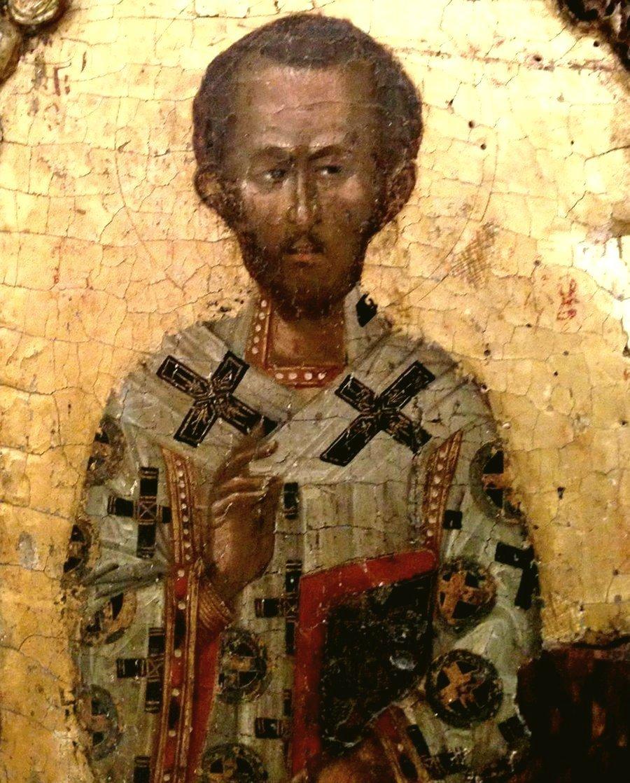 Святитель Иоанн Златоуст. Кипрская икона.
