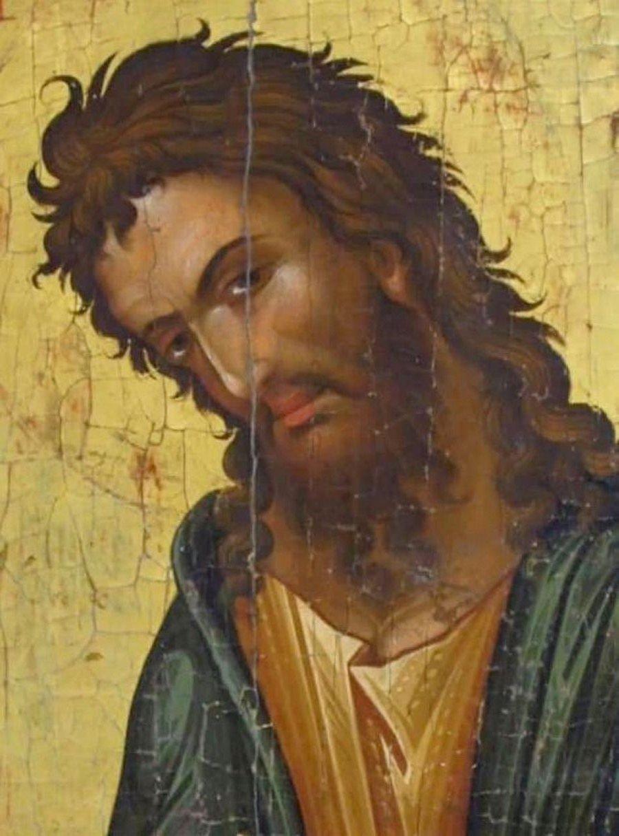 Святой Иоанн Предтеча. Кипрская икона. Фрагмент.