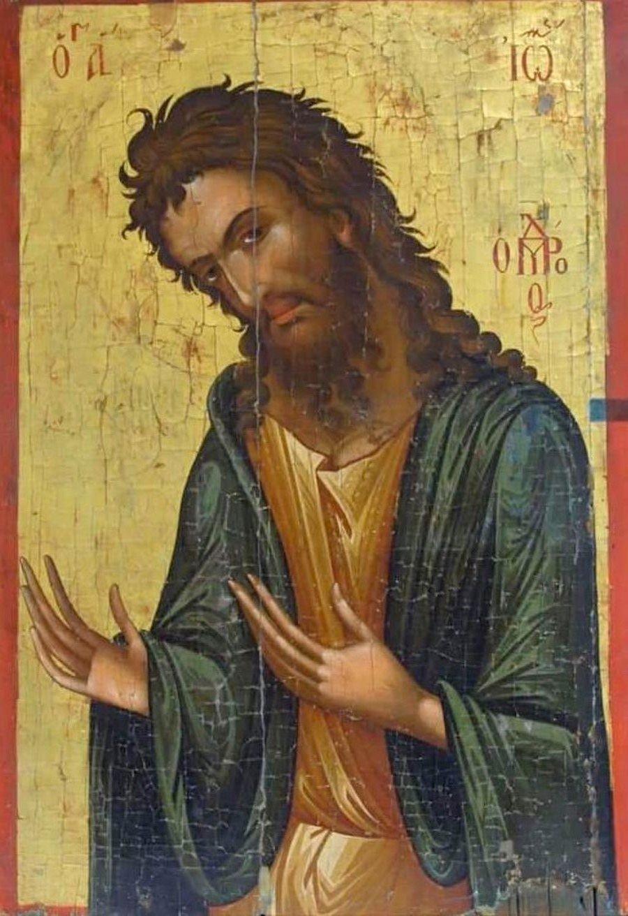 Святой Иоанн Предтеча. Кипрская икона.