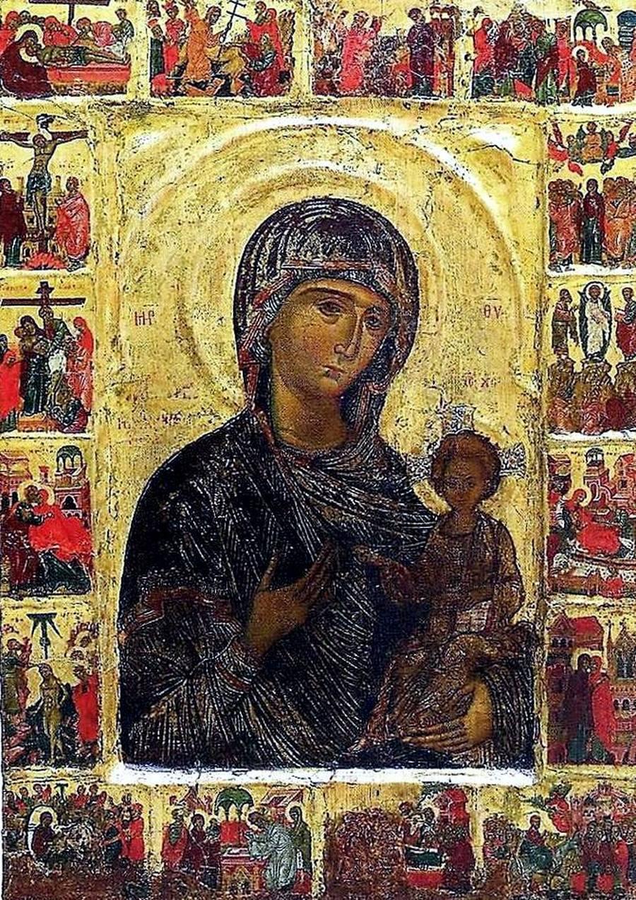 Богоматерь Одигитрия. Кипрская икона XV века.