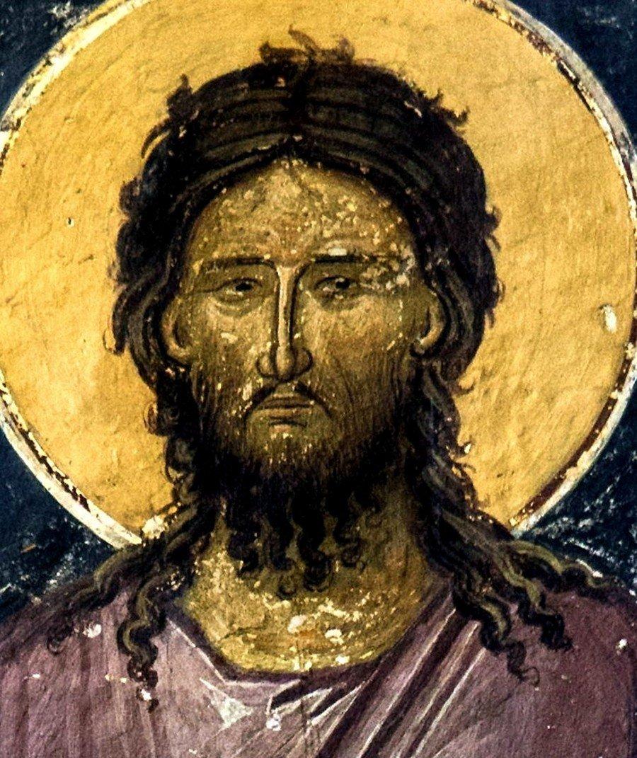 Святой Преподобный Алексий, человек Божий. Фреска монастыря Святого Иоанна Предтечи близ Серр, Греция.