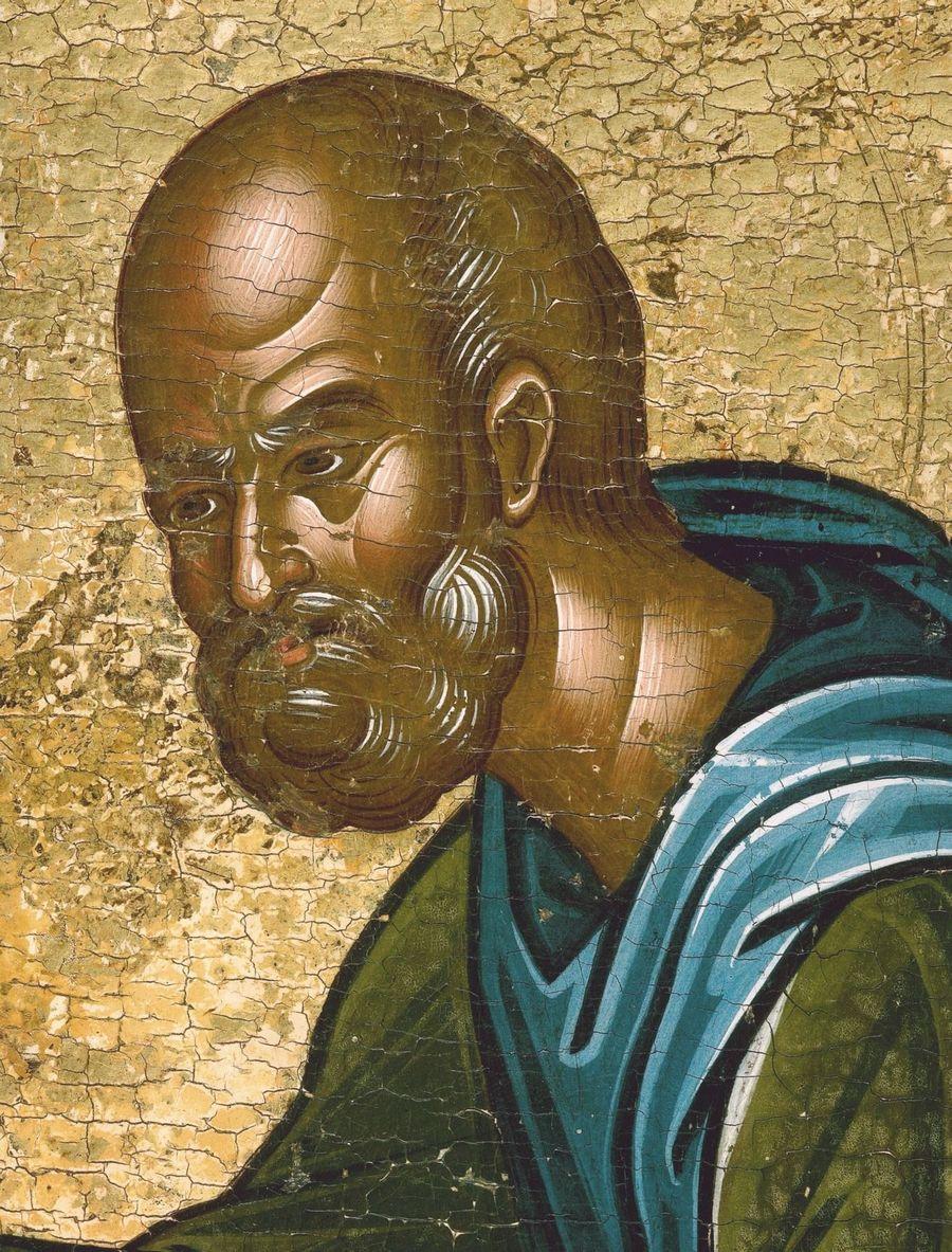 Святой Преподобный Иосиф Песнописец. Икона в монастыре Ватопед на Афоне. Фрагмент.
