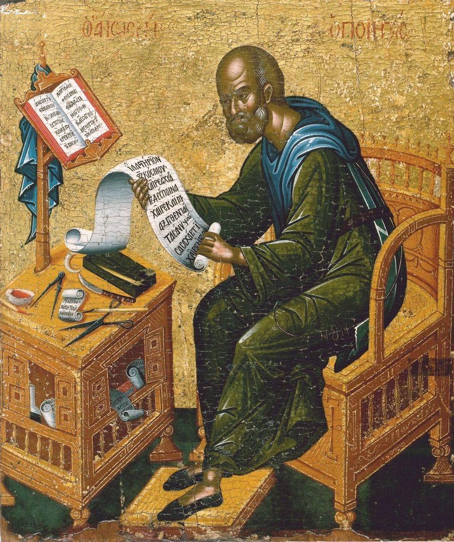 Святой Преподобный Иосиф Песнописец. Икона в монастыре Ватопед на Афоне.