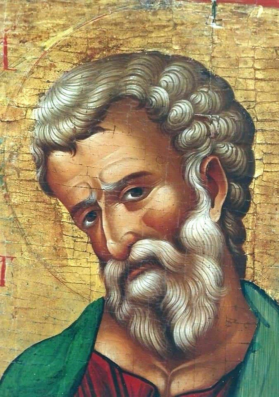 Лик Святого. Фрагмент кипрской иконы XVI века.