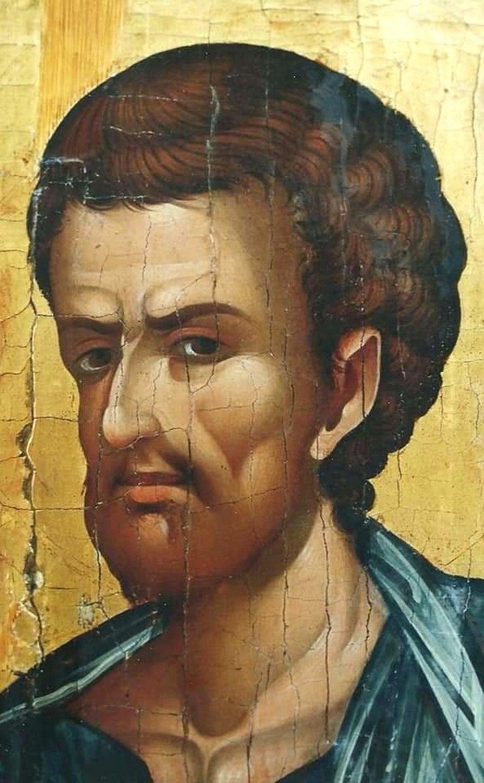 Святой Апостол и Евангелист Лука. Фрагмент кипрской иконы XVI века.