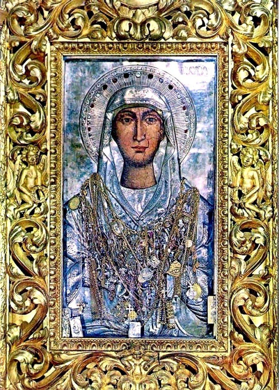 Чудотворная икона Святой Мученицы Мавры. Остров Закинф, Греция.
