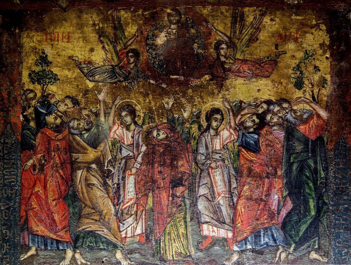 Вознесение Господне. Икона в монастыре Великий Метеор, Метеоры, Греция.