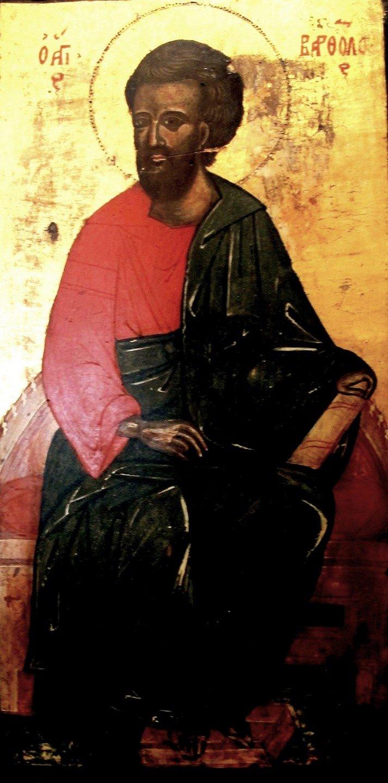 Святой Апостол Варфоломей. Старинная греческая икона.