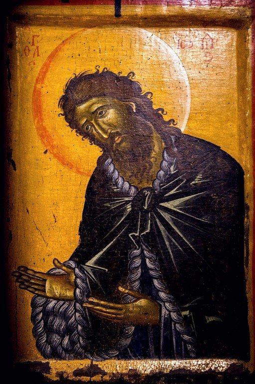 Святой Иоанн Предтеча. Греческая икона. Византийский музей в Верии, Греция.