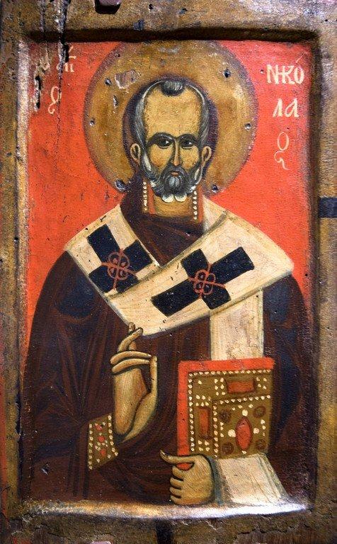 Святитель Николай, Архиепископ Мир Ликийских, Чудотворец. Икона. Византийский музей в Верии, Греция.