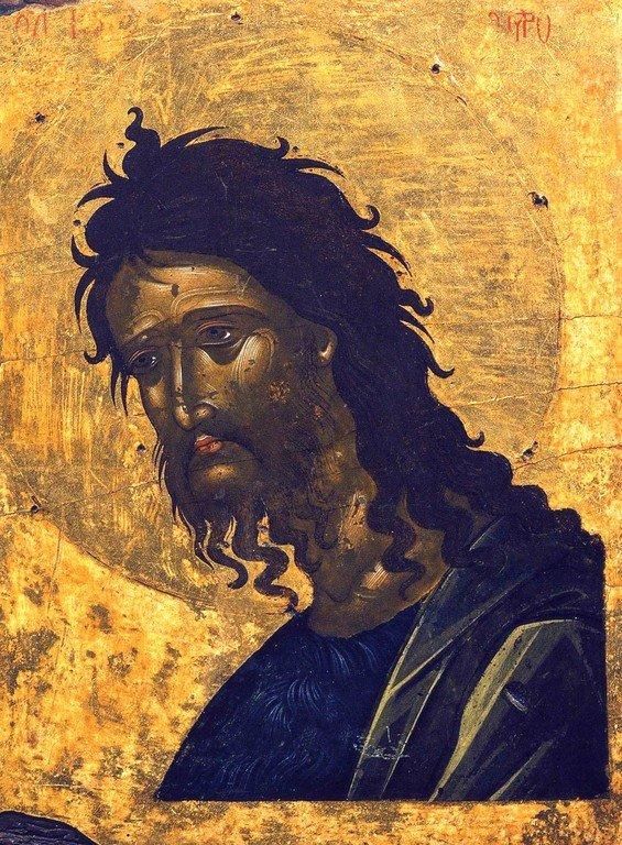 Святой Иоанн Предтеча. Икона. Крит, начало XVII века. Иконописец Эммануил Ламбардос (?).