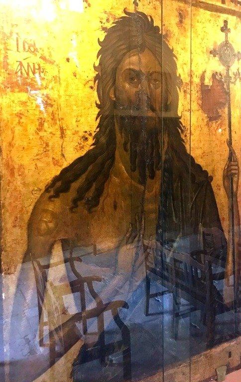 Святой Иоанн Предтеча. Греческая икона.
