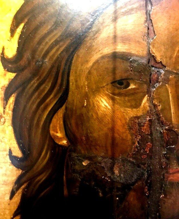 Святой Иоанн Предтеча. Греческая икона. Фрагмент.
