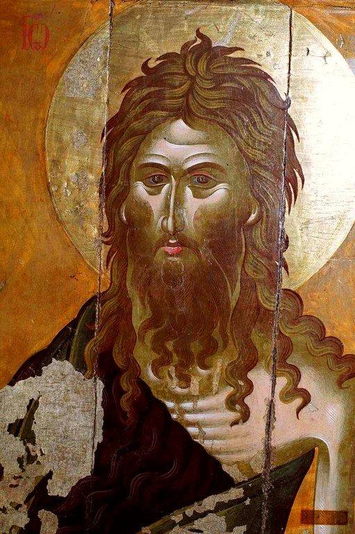 Святой Иоанн Предтеча. Кипрская икона. Лик.