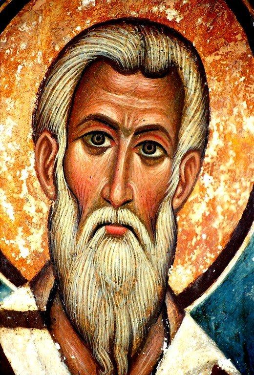 Святой Апостол Иаков, брат Господень. Фреска XV века в монастыре Святой Екатерины на Синае.