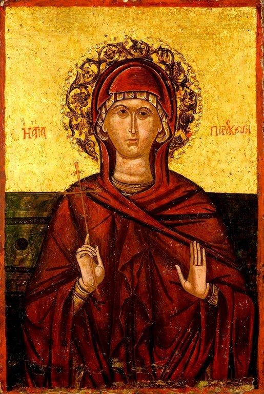 Святая Великомученица Параскева Пятница. Греческая икона XVII века.