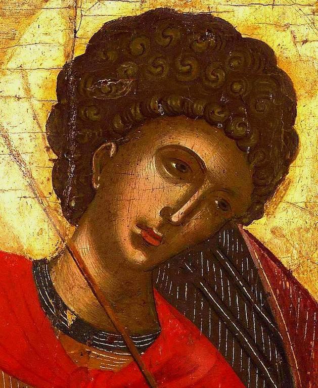 Чудо Святого Георгия о змие. Греческая икона. Фрагмент.