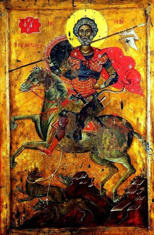 Святой Великомученик Мина Котуанский. Греческая икона.