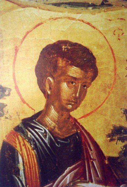 Святой Апостол Филипп. Фрагмент иконы критской школы XV века. Иконописец Ангелос.
